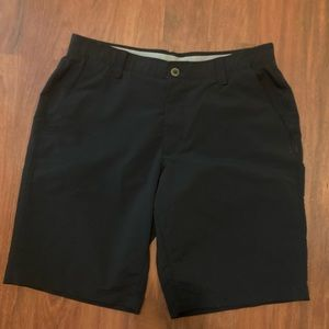 Under armour men's black golf shorts 34 waist